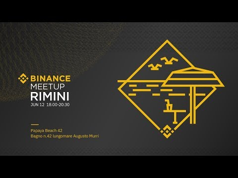 #Binance Official Meetup - Rimini, Italy June 2019