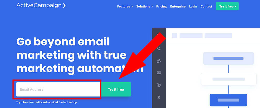 prova gratis active campaign email marketing