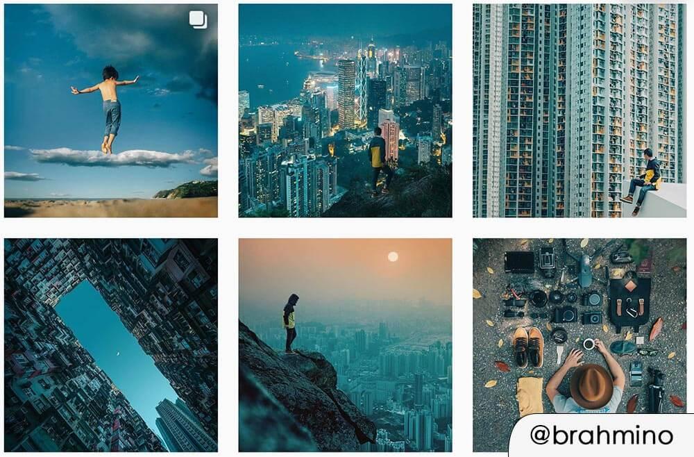 Stile preset fotografico instagram con filtro bluastro