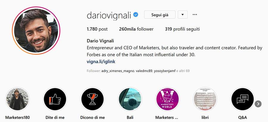 dario vignali instagram