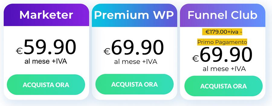 builderall piani prezzi premium gratis