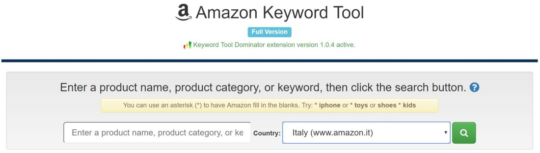amazon keyword tool ktd