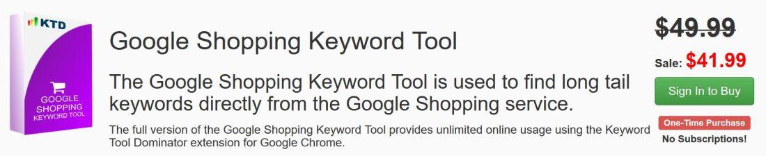 google shopping keyword tool
