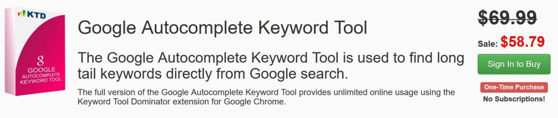 google strumento autocompletamento parole chiave