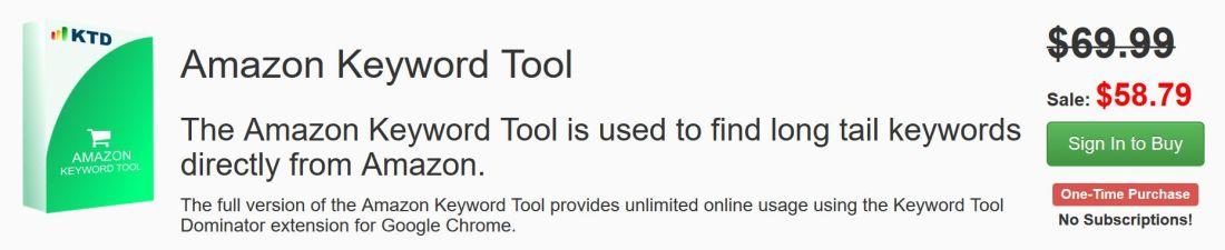 Amazon Keyword Tool costo