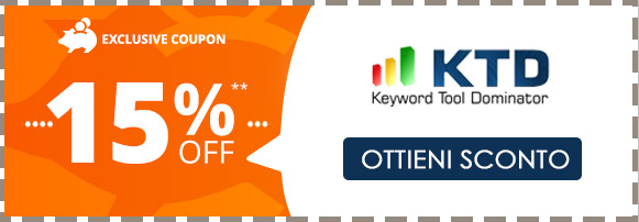 Keyword Tool Dominator (KTD) codice coupon sconto 15%