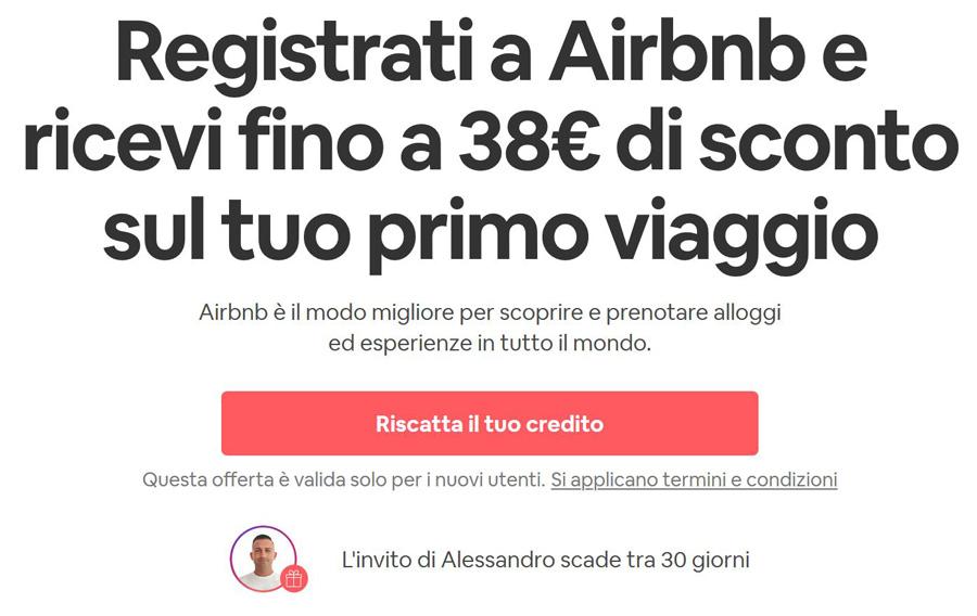 airbnb coupon sconto codice