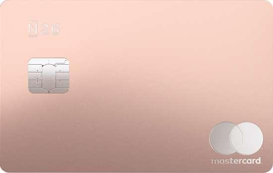 n26 metal card (rosa) mastercard carta debito prepagata italia