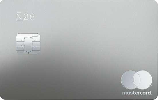 n26 metal card (argento metallizata) mastercard carta debito prepagata italia