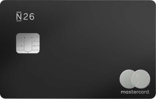 n26 metal card (black) mastercard carta debito prepagata italia