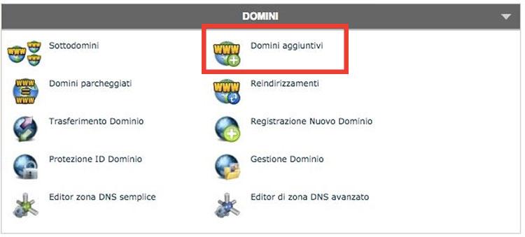 domini aggiuntivi