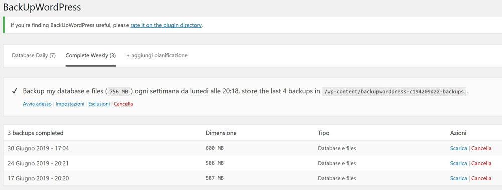 backup plugin wordpress