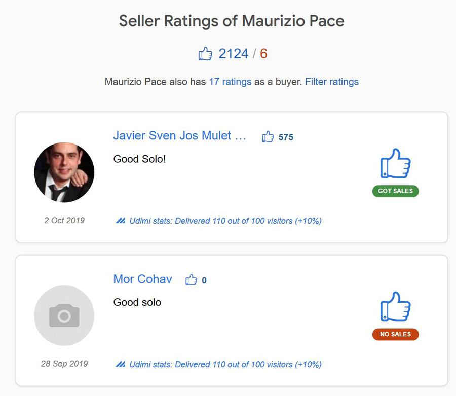 recensioni e opinioni seller maurizio pace