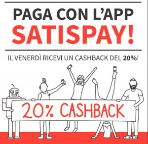Satispay cashback venerdi