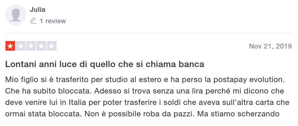 opinione poste italiane