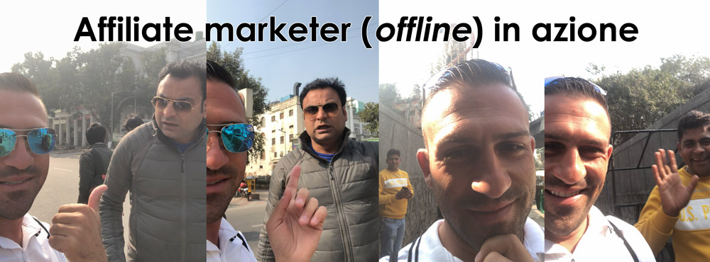 affiliate marketer offline