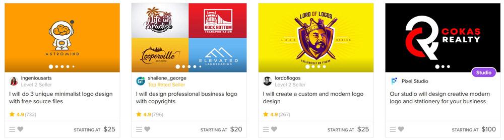 creare logo fiverr recensioni gig