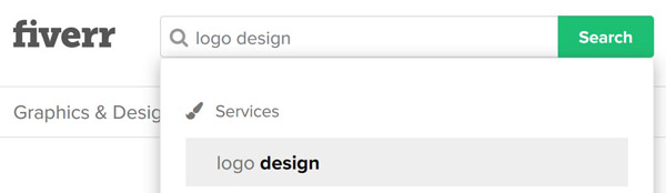 ricerca servizio creazione logo fiverr