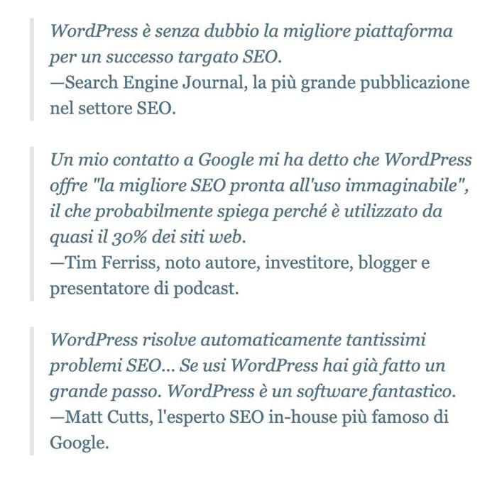 sito wordpress posizionamento seo google