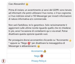chatbot messenger manychat gdpr