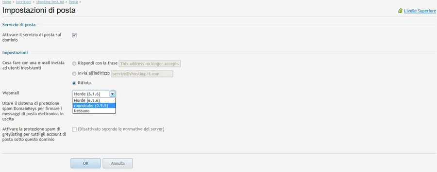 passaggio 4 cambio webmail plesk