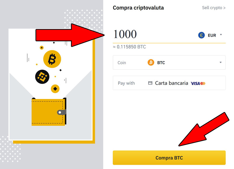 comprare bitcoin carta