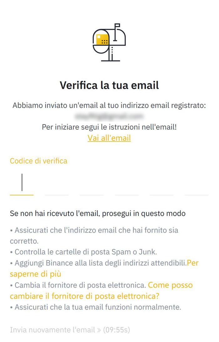 verifica email tramite codice