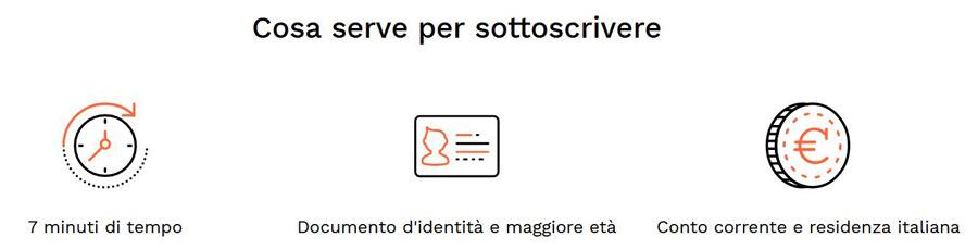 cosa serve registrazione italia