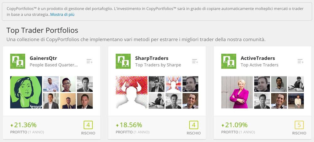 etoro copyportfolios trader gestione fund portafoglio