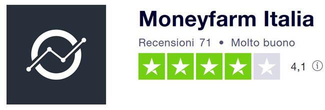 moneyfarm italia punteggio recensioni