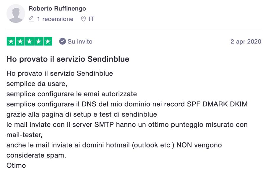 sendinblue server configurazione smpt dns