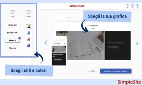 grafica colori sito simplesite