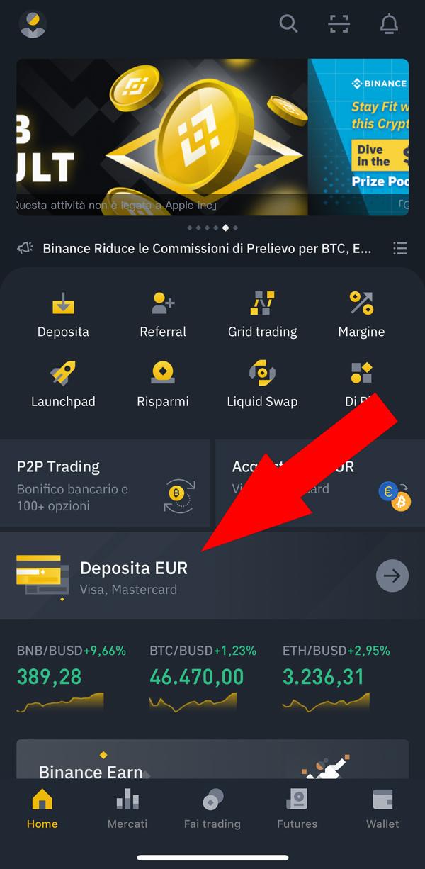 deposito euro binance app