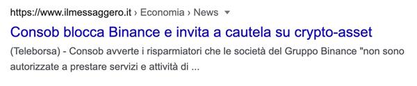 messaggero vicenza consob italia